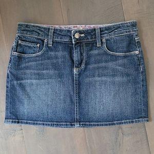 Paige Premium Stretch Denim Mini Skirt 26
